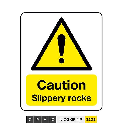 Caution, Slippery rocks
