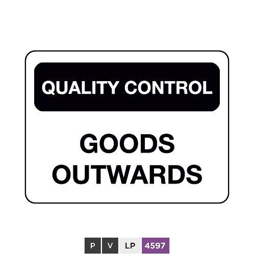 Quality control, Goods outwards