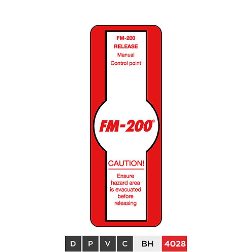 FM-200 Release Manual Control Point