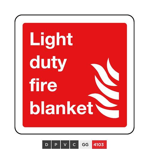 Light duty fire blanket