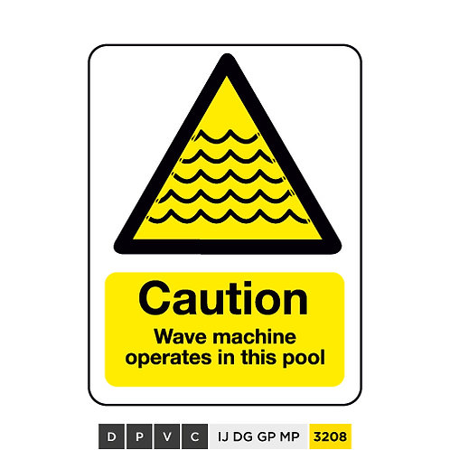 Caution, Wave machine operates in this pool