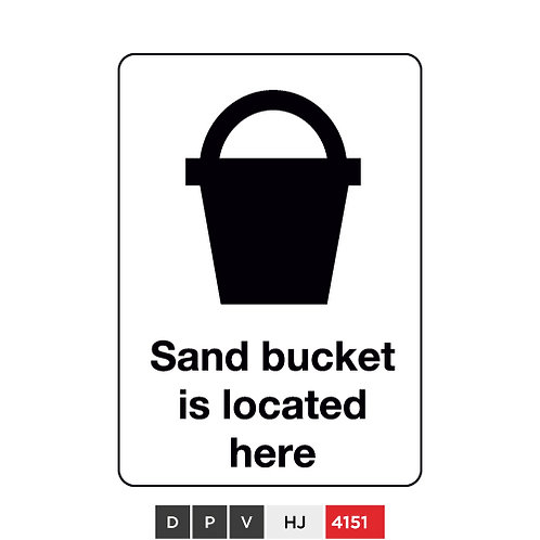 Sand bucket is located here