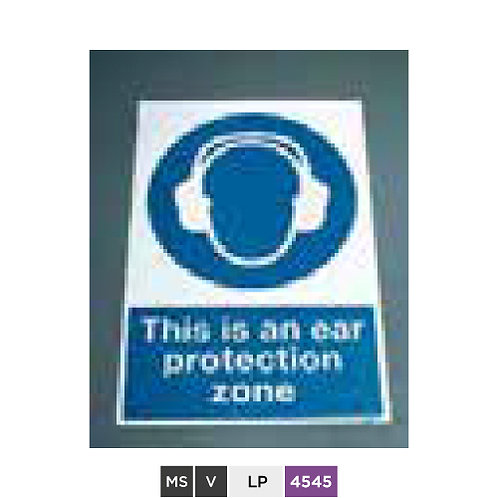 This is an ear protection zone