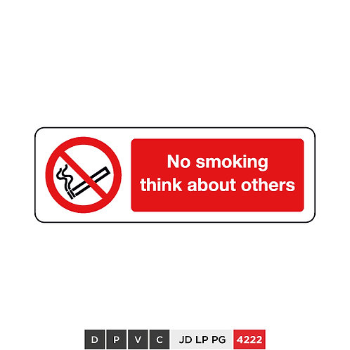 No smoking, think about others