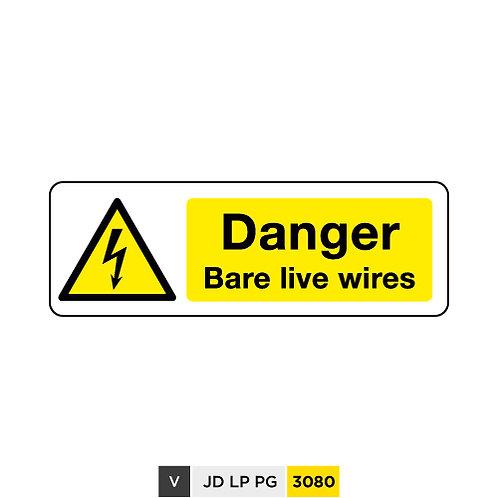 Danger, Bare live wires