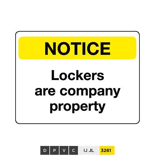 Notice, Lockers are company property