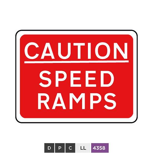 CAUTION, SPEED RAMPS