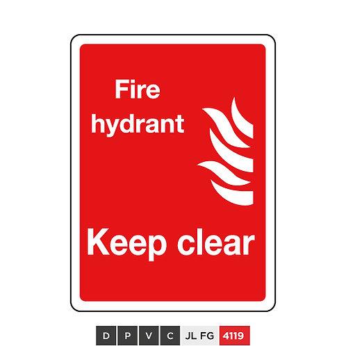 Fire hydrant, Keep clear