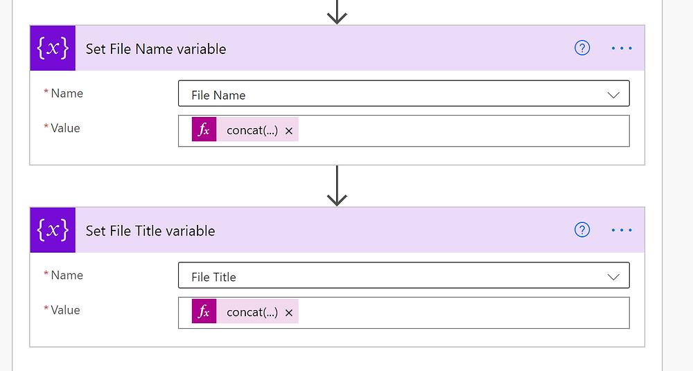 Set Variables