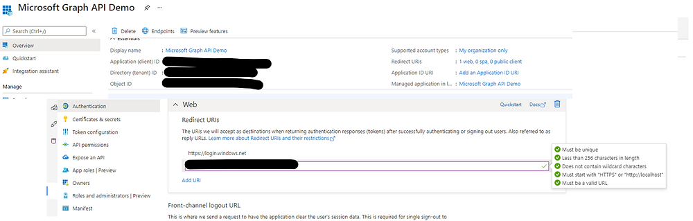 Update App Registration