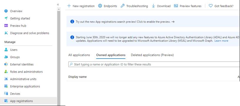 Microsoft Graph API Registration