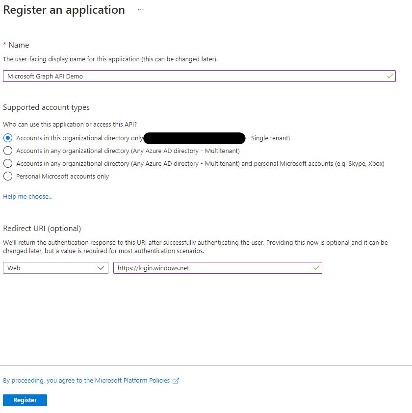 Register Application