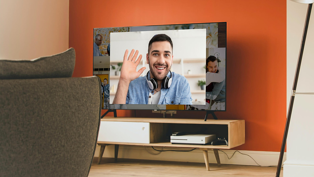 a jewish man waving in a VidDay Bar Mitzvah video