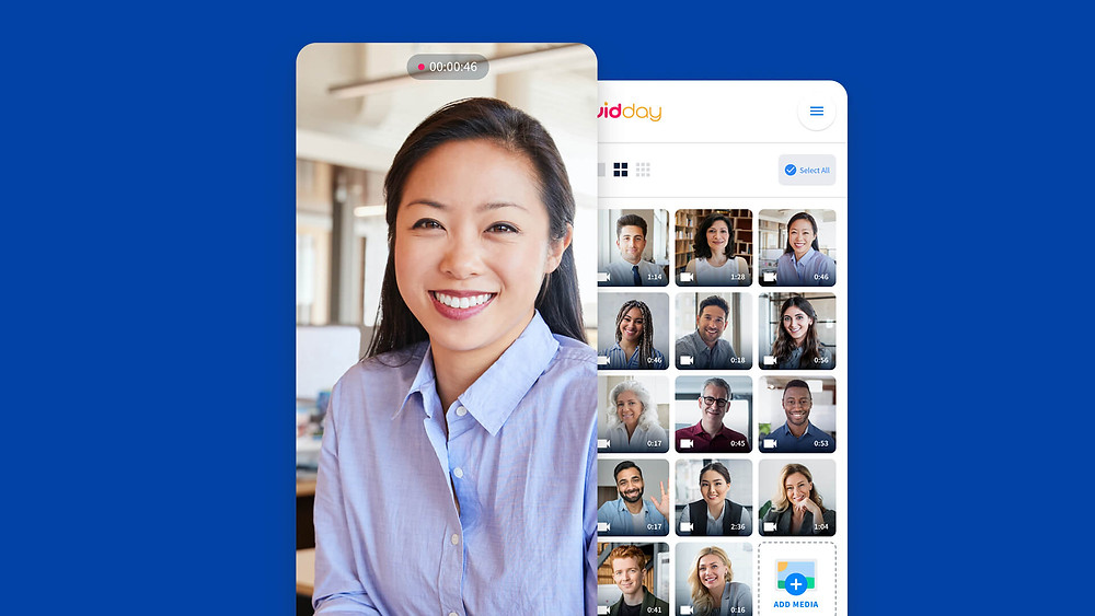 inside the vidday app for onboarding