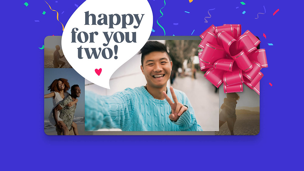 happy for you two anniversary video with VidDay