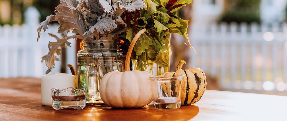 More pumpkins for a fall wedding decoration