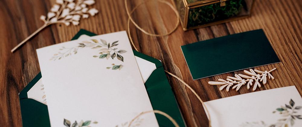 A fall inspired wedding invitation