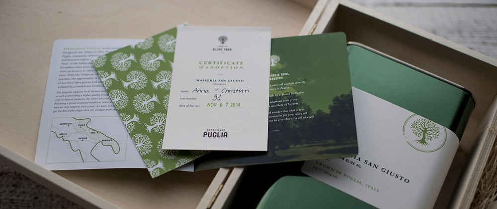 Information explaining what Especially Puglia is for an anniversary gift