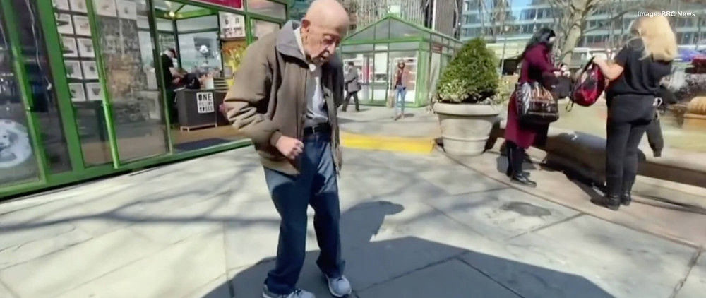 The 89-year-old dancing in the streets after vaccination.