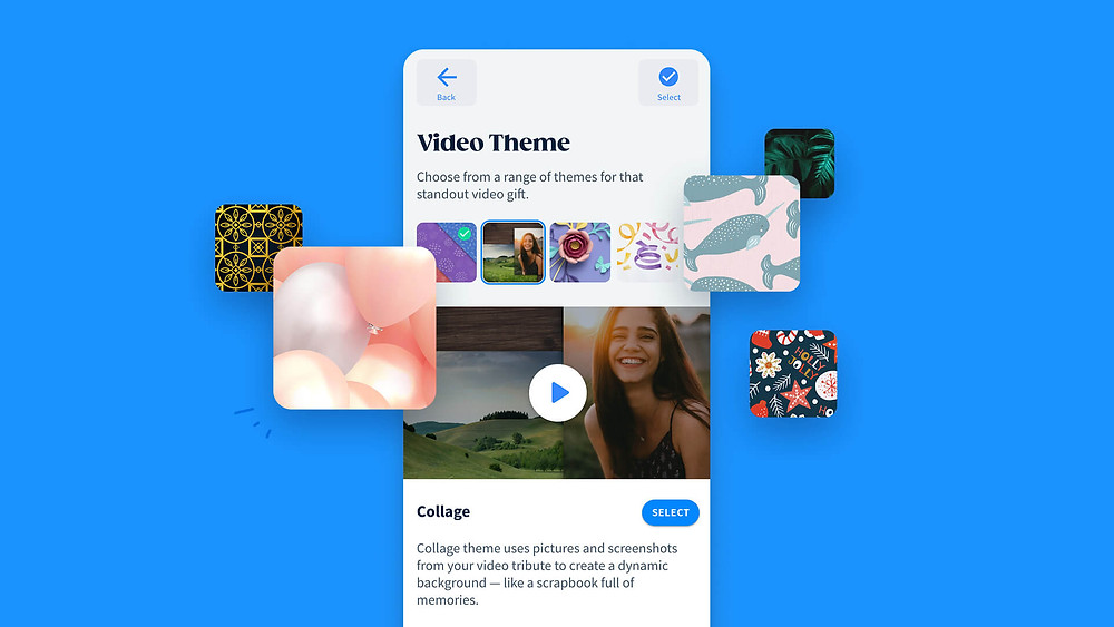 an array of beautiful video themes