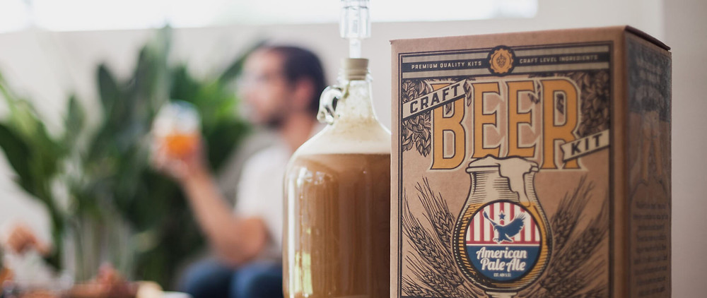 A close up for craft a beer for an anniversary gift