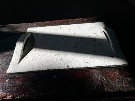 vassoio dall'alto su tavolo in legno