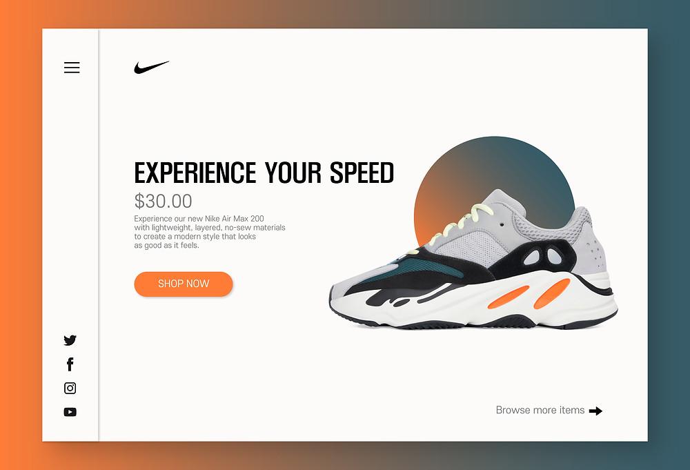 error agua Antídoto  Nike Webpage design practice
