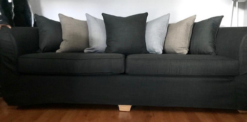 Sofa cover and cushions