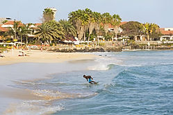 Beach in Santa Maria, Sal, Cape verde