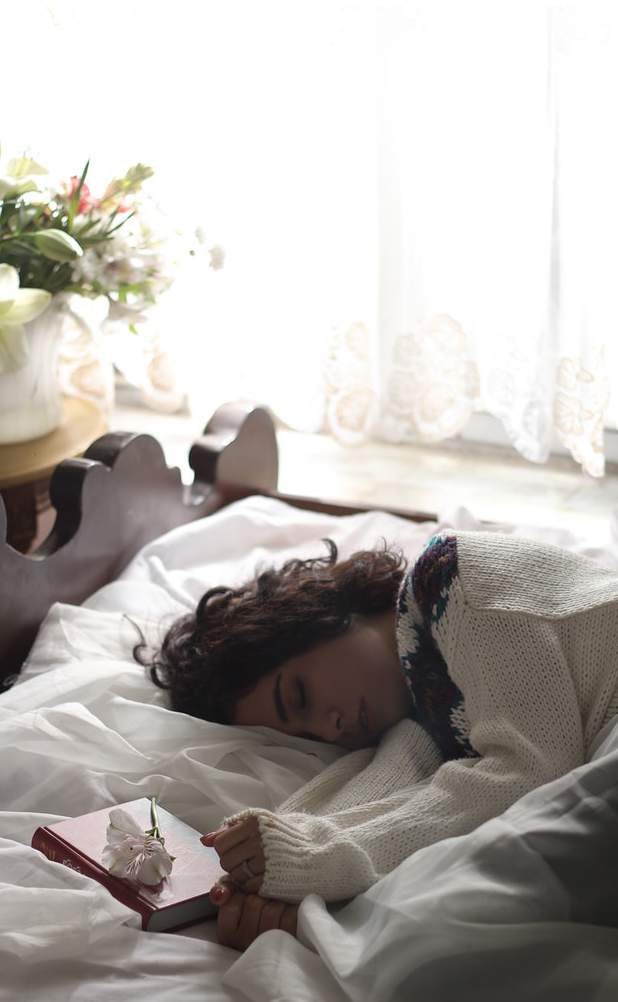Healthy Brisbane woman sleeping for health