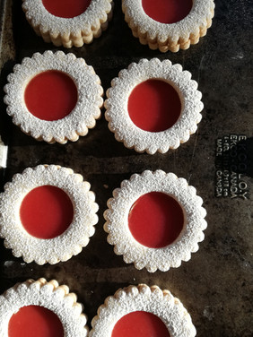 Rhubarb Jam Cookies