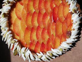 Peach, Pistachio Frangipane