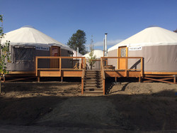 Deck construction for Yurt Access