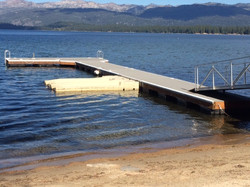 Floating Dock System With Gang Plank