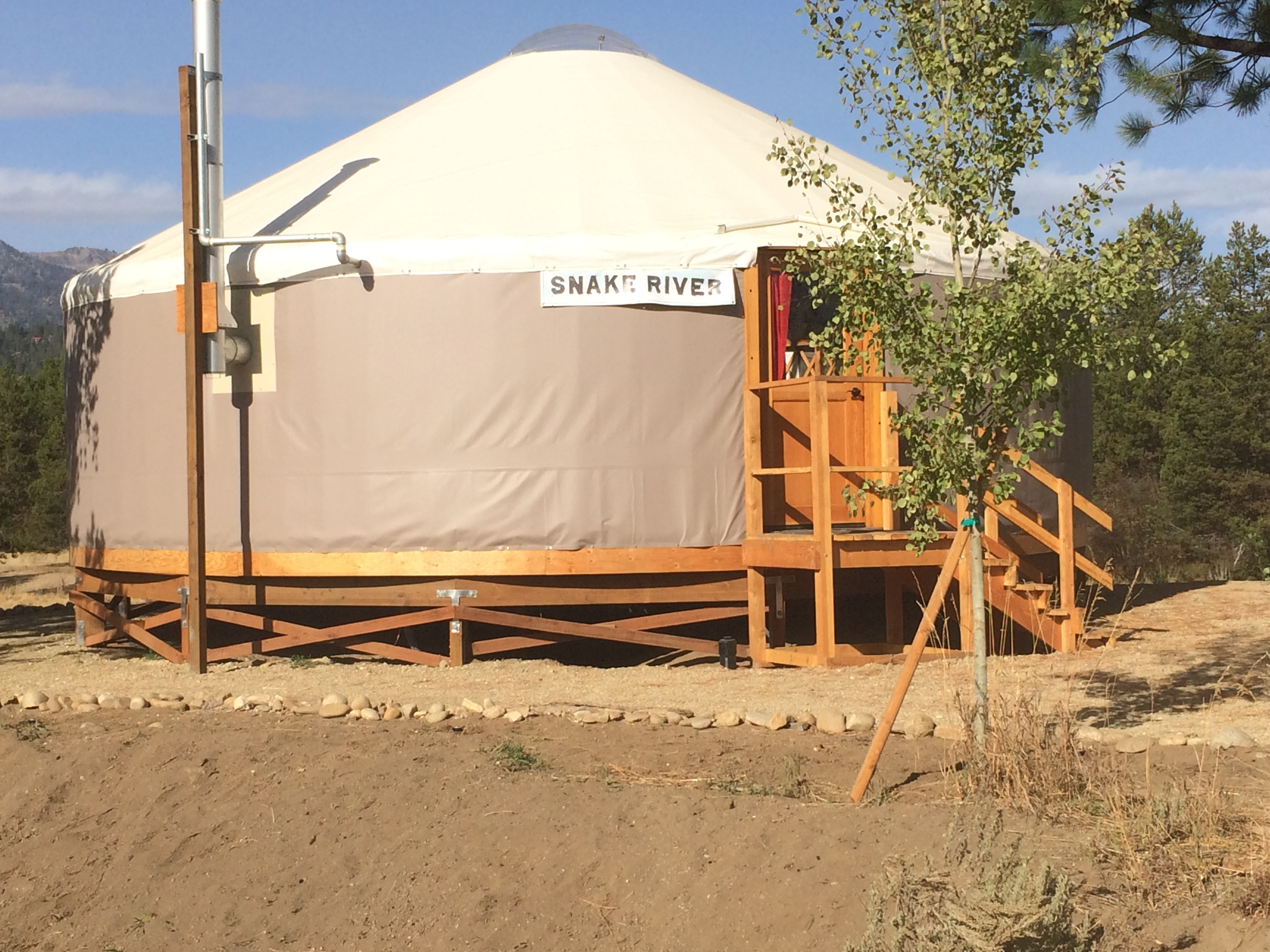 Yurt Complete construction