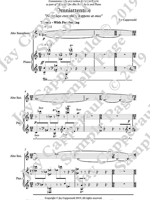 Omniattentive for Alto Saxophone & Piano (2019)