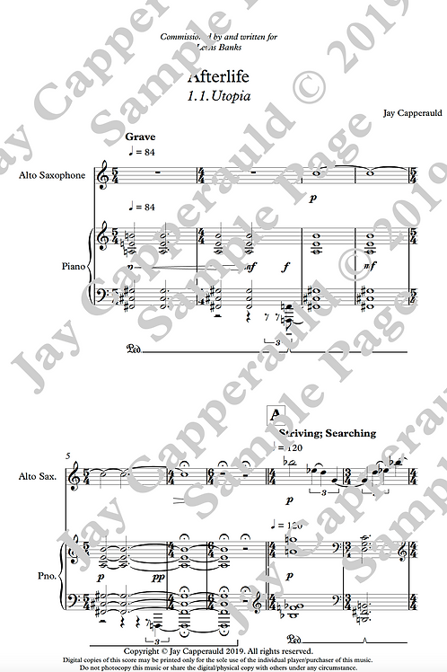 Afterlife for Alto Saxophone & Piano (2019)