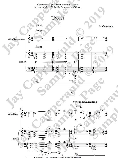 Utopia for Alto Saxophone & Piano (2019)