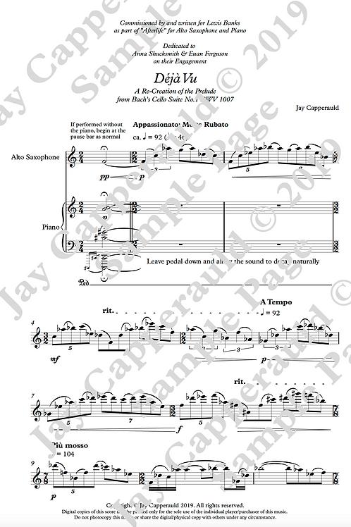 Déjà Vu for Solo Alto Saxophone (2019)