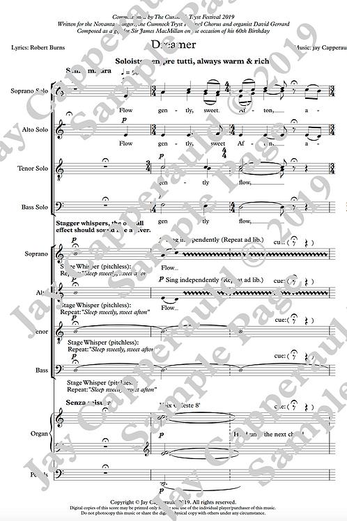 Dreamer for SATB Soloists, SATB Choir & Organ (2019)