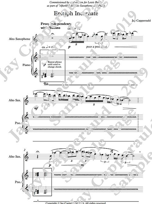 Epitaph Incarnate for Alto Saxophone & Piano (2019)