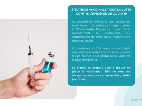 STRATÉGIE VACCINALE POUR LA LUTTE CONTRE L'ÉPIDÉMIE DE COVID-19