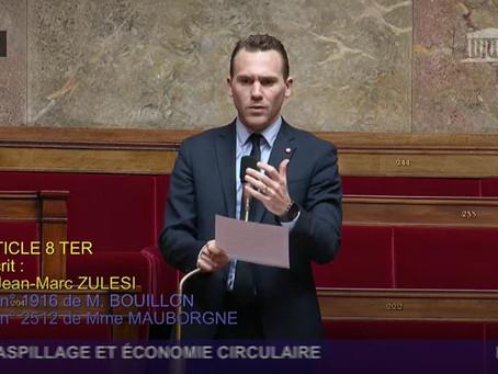 ÉCONOMIE CIRCULAIRE : UN PROJET DE LOI RENFORCÉ LORS DE SON EXAMEN À L'ASSEMBLÉE NATIONALE