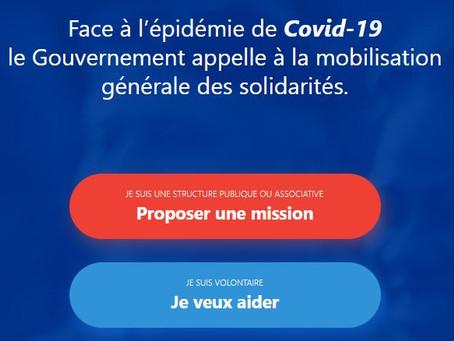 DES PLATEFORMES POUR SE RENDRE UTILE PENDANT L'ÉPIDÉMIE DE COVID-19