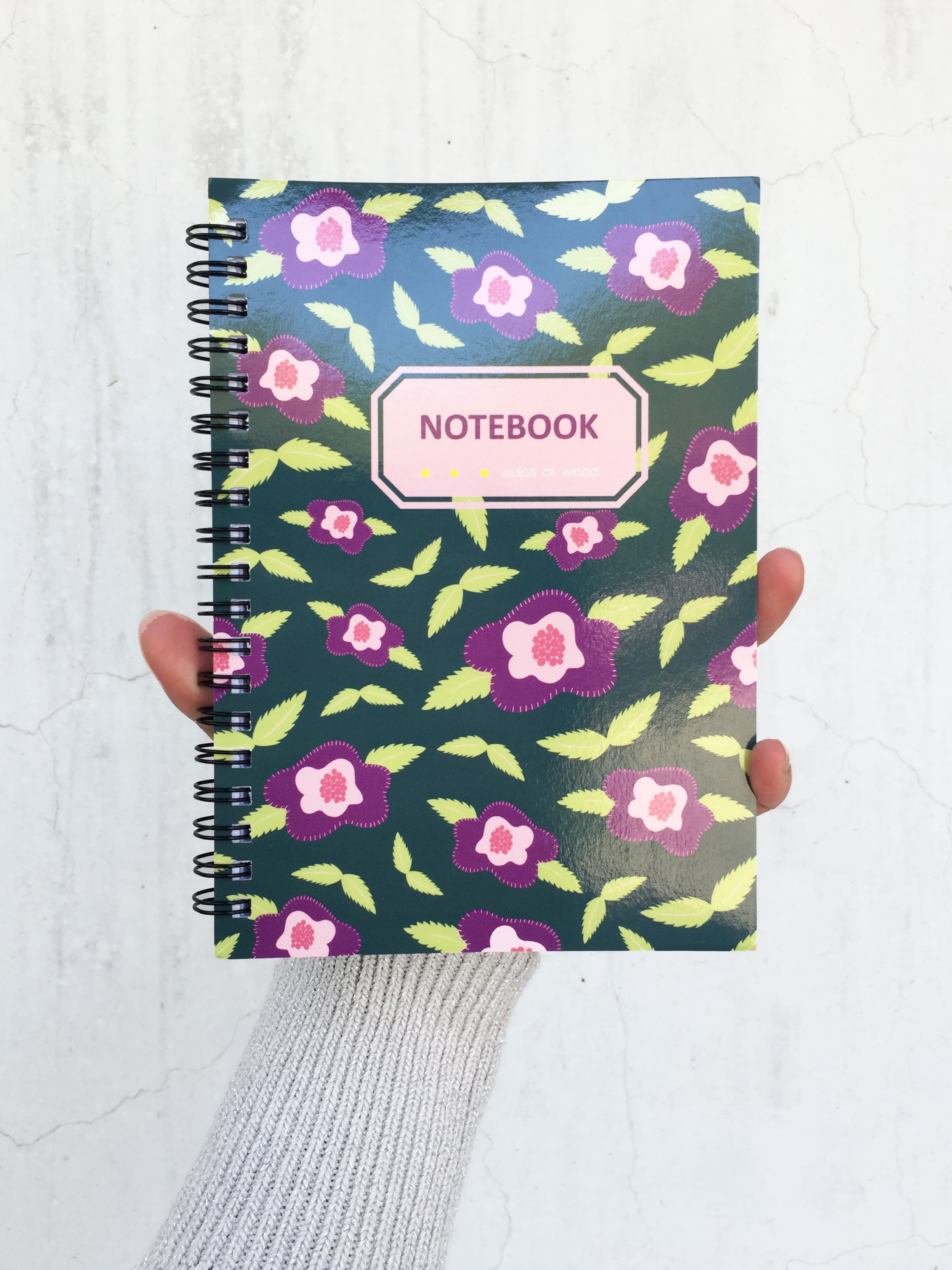 Spiral Notebook | Floral in Green
