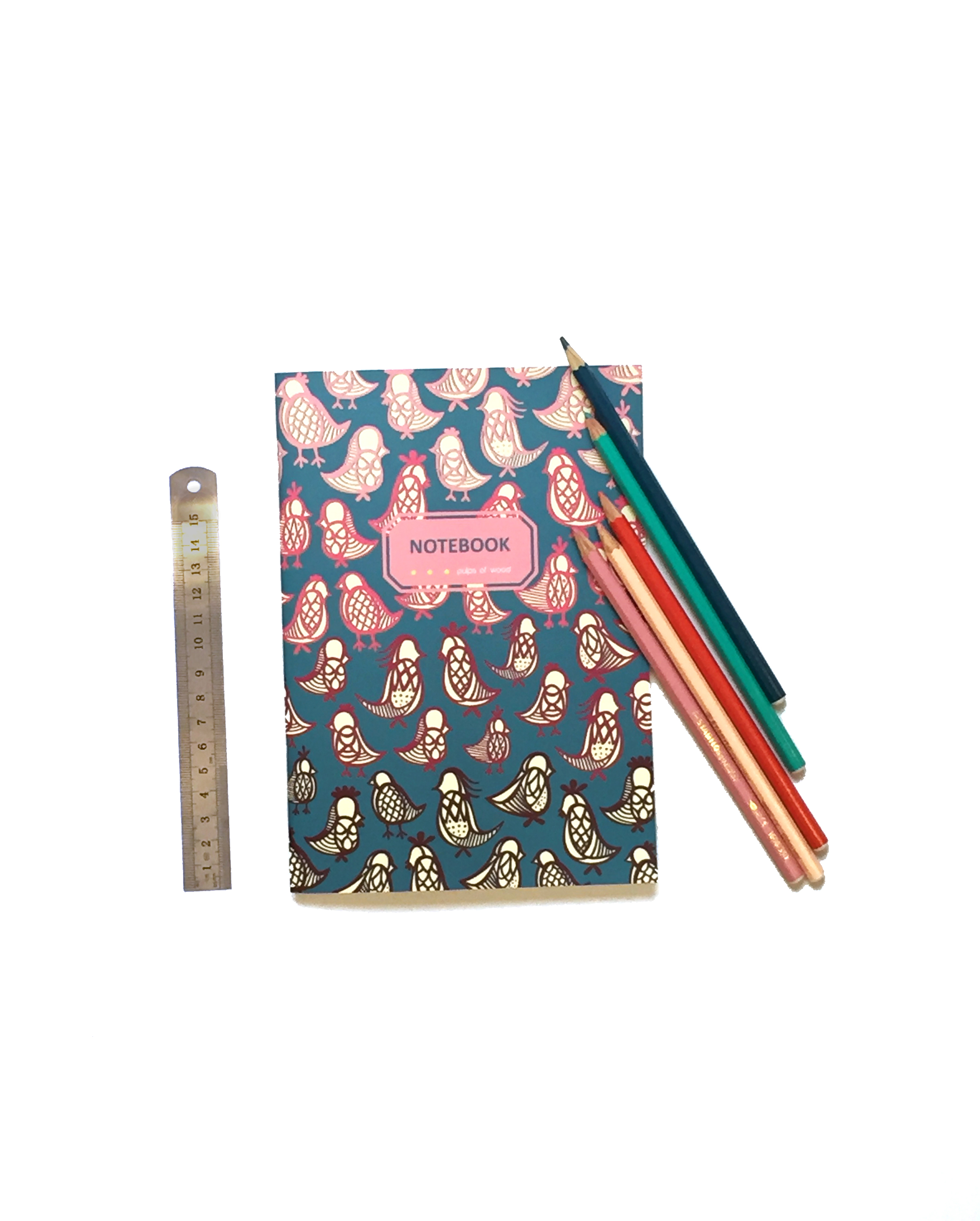 Notebook | Ornithology Red on Green