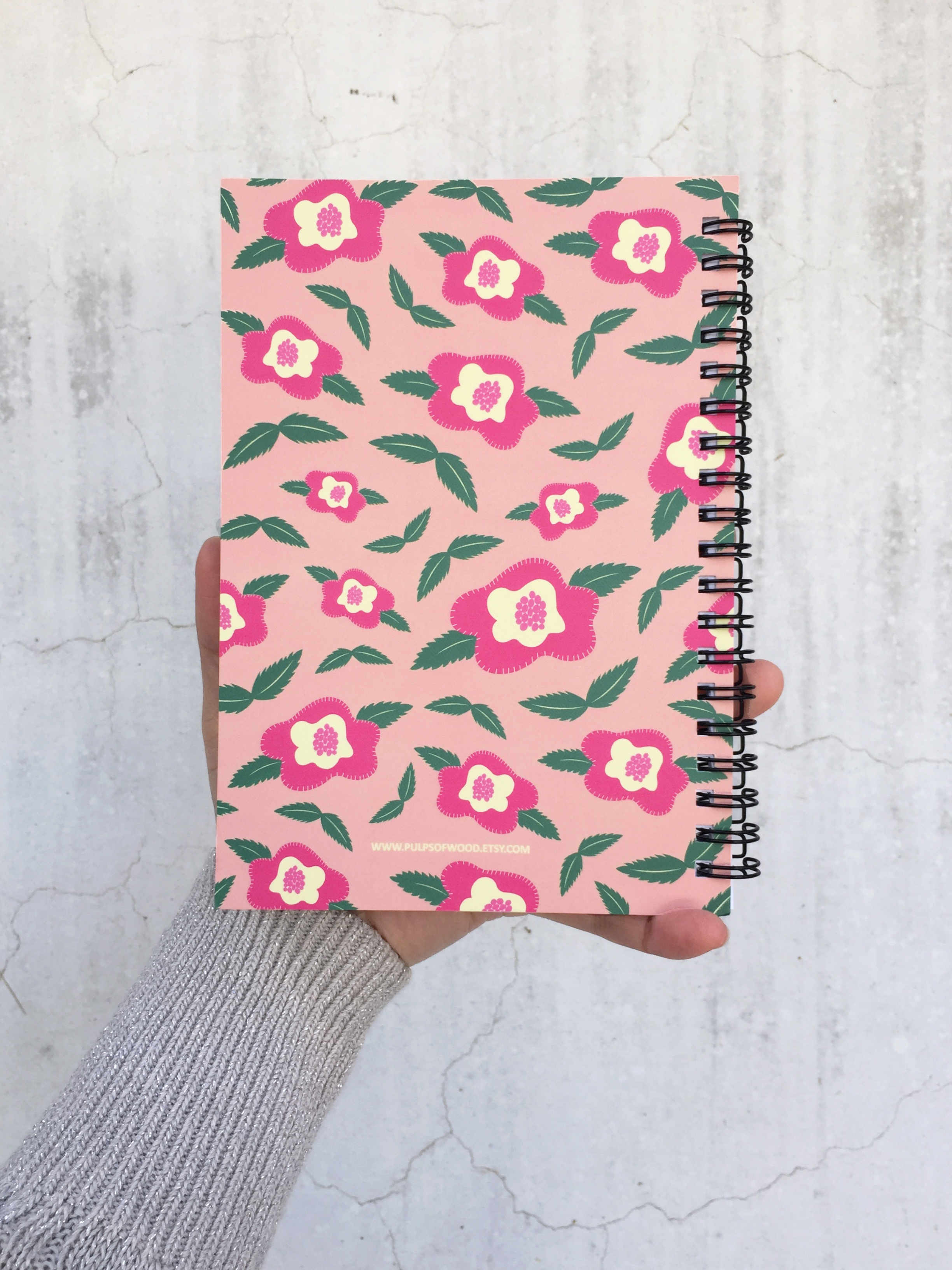 Spiral Notebook | Floral in Peach
