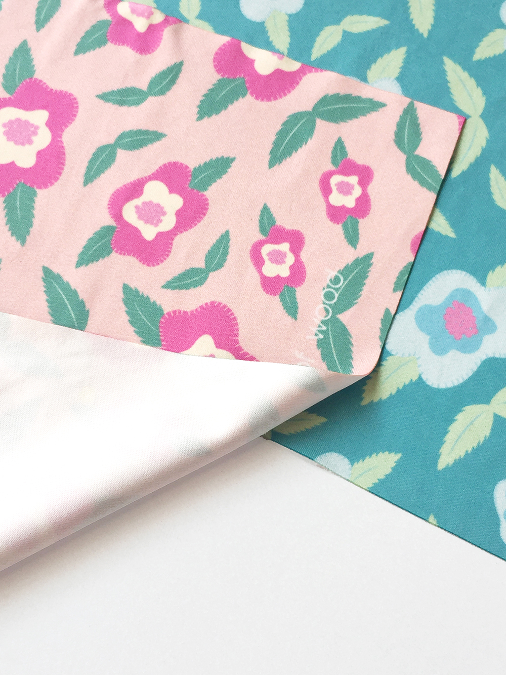 Screen Cloth | Floral Peach & Teal