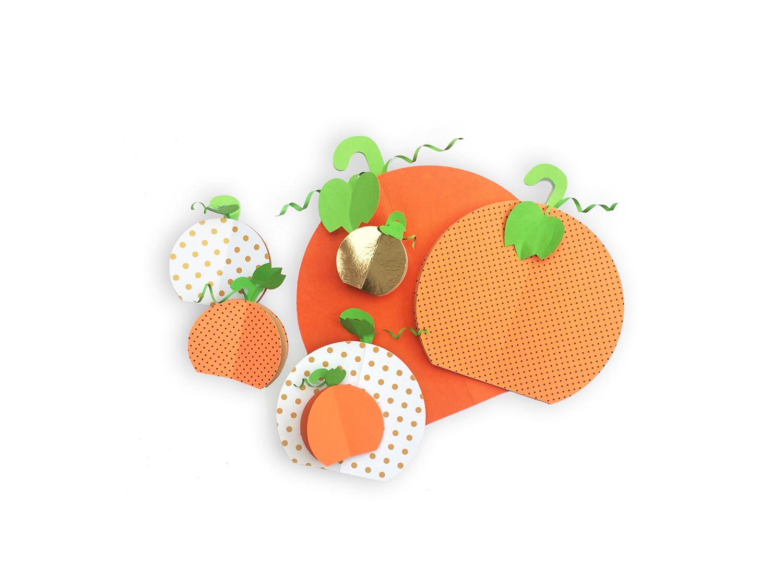 Handmade Paper Pumpkin Patch