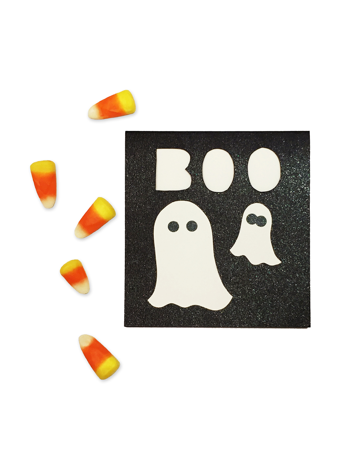 BOO Halloween Blanket Ghost Card